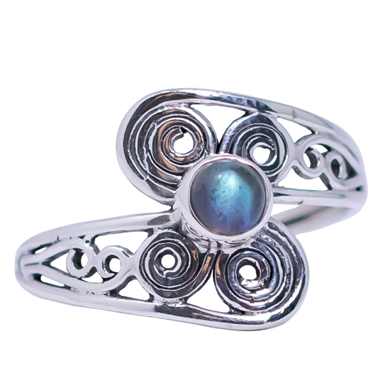 Labradorite Swirls Ring