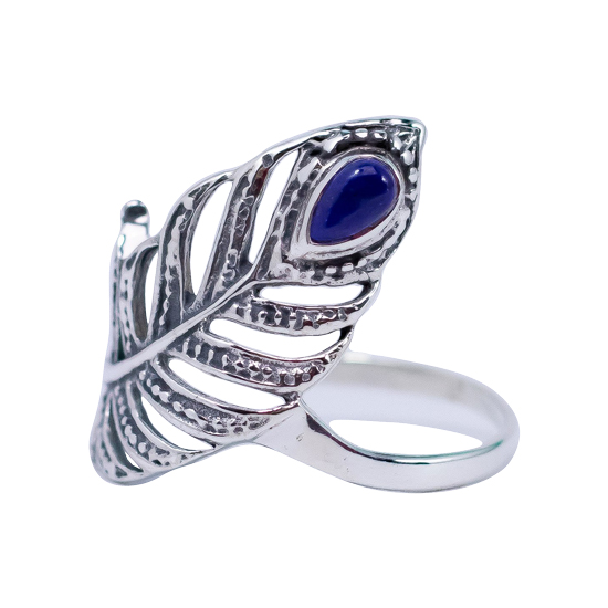 Lapis Feather Ring.