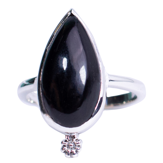Black Onyx Basic Ring