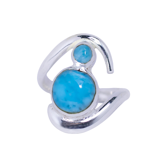 Larimar Wild Wave Ring