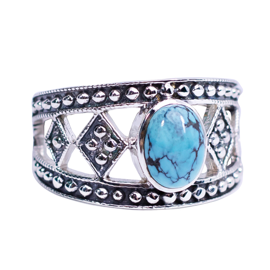 Turquoise Tribalism Ring
