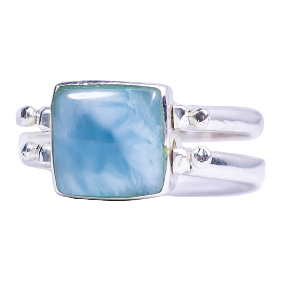 Larimar Pink Conch Reversible Ring
