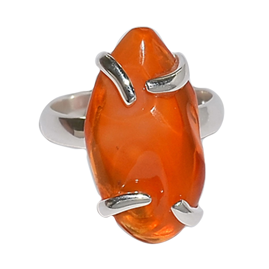 Fire Opal On Fire Ring
