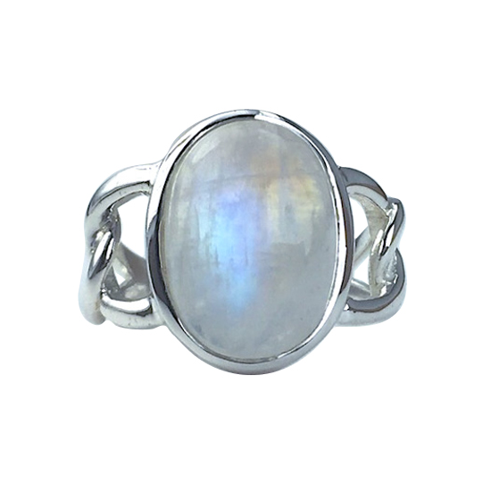 Moonstone Chain Links Ring