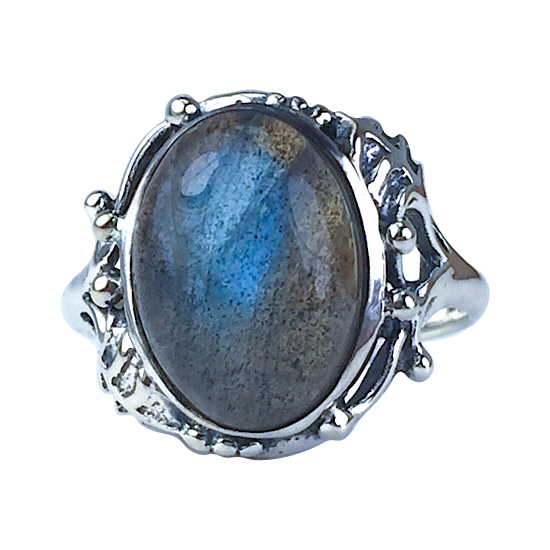 Labradorite Forest Ring