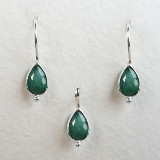 Emerald Birthstone Set May