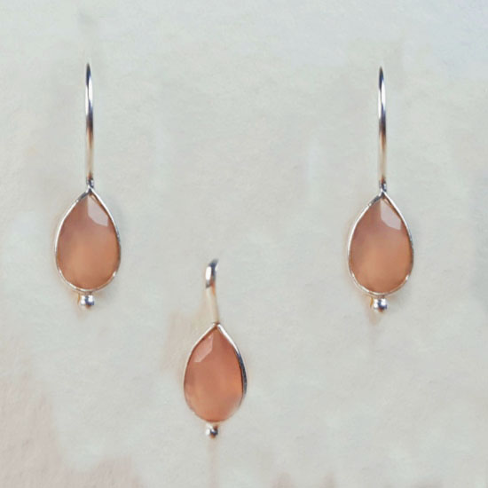 Pink Chalcedony Birthstone Set October