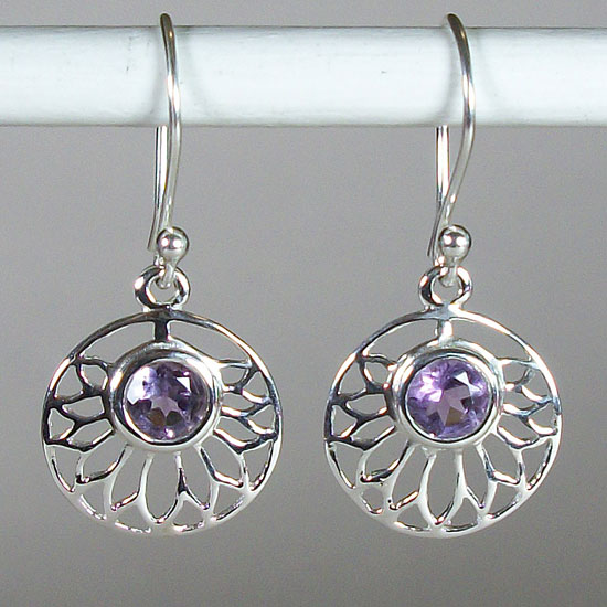 Lotus Amethyst Freedom Earrings
