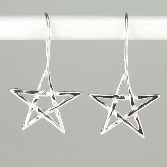 Star Pentacle Earrings