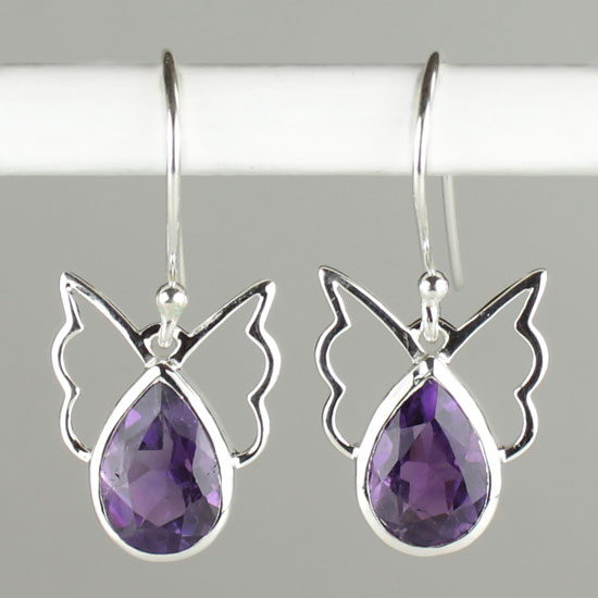 Angelic Earrings w/ Amethyst