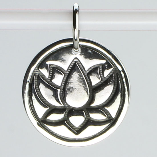 Lotus - Peace Reversable Pendant
