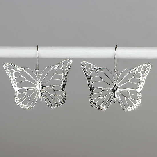 Transformation Butterfly Filigree Earrings