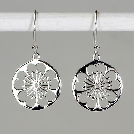 Wheel of Time Silver Mandala Earrings