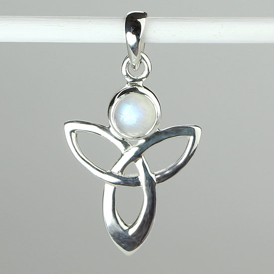 Celtic Angelic Rainbow Moonstone Pendant