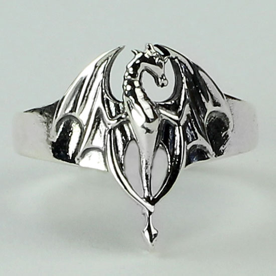 Silver Dragon Magic Ring