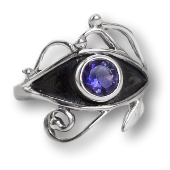 Iolite Eye of Horus Ring