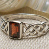Garnet Celtic Ring
